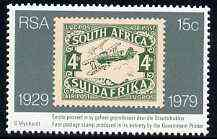 South Africa 1979 50th Stamp Anniversary (showing 1929 DH Moth stamp) unmounted mint, SG 456*