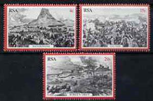 South Africa 1979 Centenary of Zulu War set of 3 unmounted mint, SG 459-61