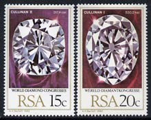 South Africa 1980 World Diamond Congress set of 2 unmounted mint, SG 477-78