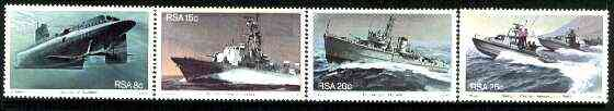 South Africa 1982 Anniversary of South African Navy set of 4 unmounted mint, SG 506-509