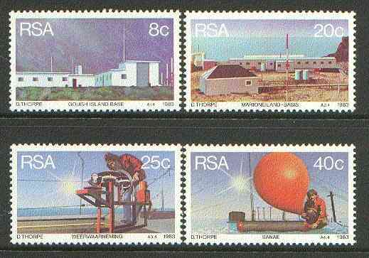 South Africa 1983 Weather Stations set of 4 unmounted mint, SG 537-40*