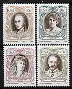 South Africa 1984 South African English Authors set of 4 unmounted mint, SG 554-57*