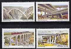 South Africa 1984 South African Bridges set of 4 unmounted mint, SG 562-65*, stamps on bridges, stamps on civil engineering