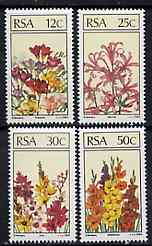 South Africa 1985 Flowers set of 4 unmounted mint, SG 586-89*