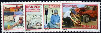 South Africa 1986 Blood Donor Campaign set of 4 unmounted mint, SG 594-97*