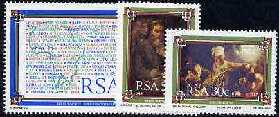South Africa 1987 The Bible Society set of 3 unmounted mint, SG 626-28*