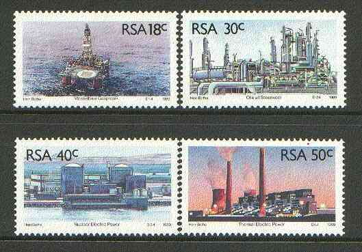 South Africa 1989 Energy Sources set of 4 unmounted mint, SG 696-99