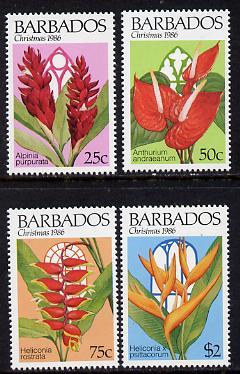 Barbados 1986 Christmas set of 4 unmounted mint, SG 828-31