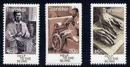 Transkei 1977 Help for the Blind set of 3 unmounted mint, SG 30-32