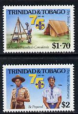 Trinidad & Tobago 1986 Boy Scouts set of 2 unmounted mint, SG 710-11