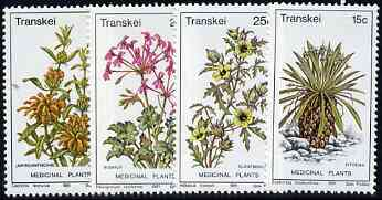 Transkei 1981 Medicinal Plants #2 set of 4 unmounted mint, SG 88-91*