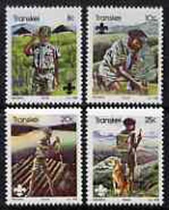 Transkei 1982 75th Anniversary of Scouting set of 4 unmounted mint, SG 104-107