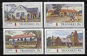 Transkei 1983 Post Offices #1 set of 4 unmounted mint, SG 129-32*, stamps on , stamps on  stamps on postal, stamps on  stamps on postbox