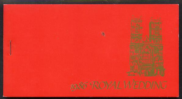 Booklet - Tuvalu 1986 Royal Wedding (Andrew & Fergie) $7.20 booklet pristine, SG SB7