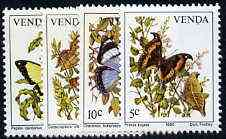 Venda 1980 Butterflies set of 4 unmounted mint, SG 34-37