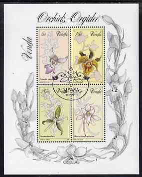 Venda 1981 Orchids m/sheet containing set of 4 very fine used, SG MS 50