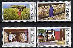 Venda 1982 Sisal Cultivation set of 4 unmounted mint, SG 55-58