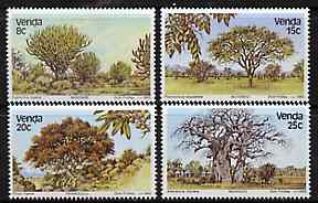 Venda 1982 Indigenous Trees #1 set of 4 unmounted mint, SG 63-66
