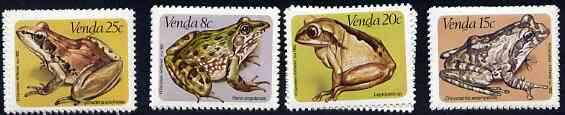 Venda 1982 Frogs set of 4 unmounted mint, SG 67-70