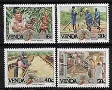 Venda 1988 Coffee Industry set of 4 unmounted mint, SG 167-70*