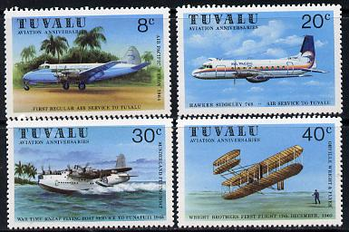 Tuvalu 1980 Aviation set of 4 unmounted mint, SG 153-6*