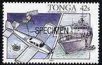 Tonga 1991 Maritime Rescue 42s opt'd SPECIMEN, from Telecommunications unmounted mint, as SG 1144