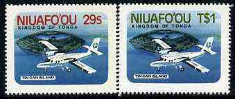 Tonga - Niuafo'ou 1983 Airport self-adhesive set of 2 unmounted mint, SG 17-18 (blocks or gutter pairs pro rata)