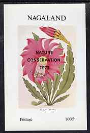Nagaland 1972 Flowers imperf souvenir sheet (opt'd Nature Conservation 1973) unmounted mint