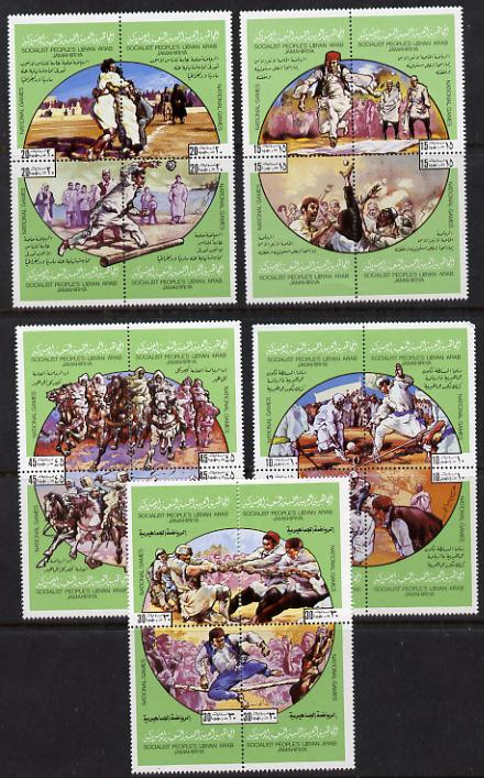 Libya 1980 National Sports set of 20 unmounted mint (SG 949-68)