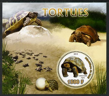 Mali 2012 Fauna - Tortoises perf m/sheet containing 1500f circular value unmounted mint