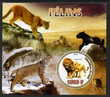 Mali 2012 Fauna - Big Cats perf m/sheet containing 1500f circular value unmounted mint