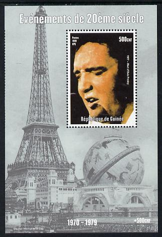 Guinea - Conakry 1998 Events of the 20th Century 1970-1979 Death of Elvis Presley perf souvenir sheet unmounted mint