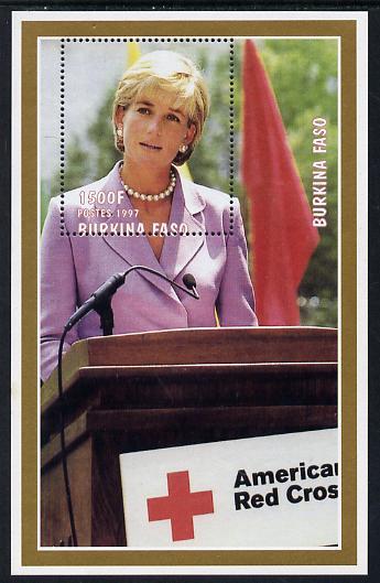 Burkina Faso 1997 Princess Diana #3 perf m/sheet unmounted mint