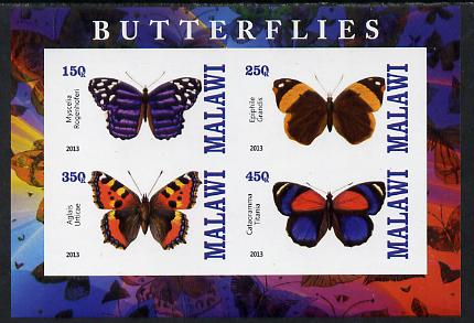 Malawi 2013 Butterflies imperf sheetlet containing 4 values unmounted mint