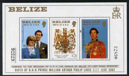 Belize 1982 Birth of Prince William m/sheet (2nd series) unmounted mint SG MS 720