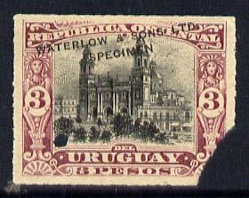 Uruguay 1895 Montevideo Cathedral 3p Printer