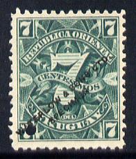 Uruguay 1889 Numeral 7c Printer
