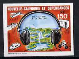 New Caledonia 1987 Nature Protection Against Noise (Waterfall, Motorbike, TV, etc) imperf from limited printing unmounted mint, SG 806