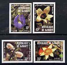 Djibouti 1981 Flowers imperf set of 4 from limited printing, as SG 831-34