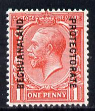 Bechuanaland 1913 opt on Great Britain KG5 1d scarlet unmounted mint, SG 74