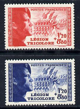 France 1942 Tricolour Legion set of 2 unmounted mint SG 769-70
