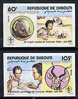 Djibouti 1981 Scouting Conference set of 2 imperf from limited printing, as SG 820-21*