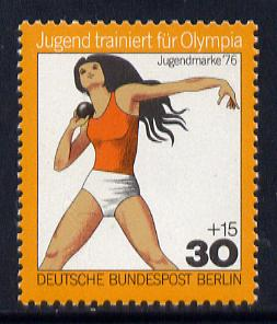Germany - West Berlin 1976 Shot Putt 30pf from Olympics set unmounted mint SG B501