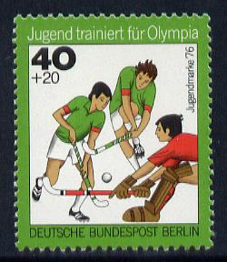 Germany - West Berlin 1976 Field Hockey 40pf from Olympics set unmounted mint SG B502