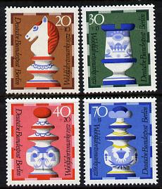 Germany - West Berlin 1972 Humanitarian Relief - Chessmen set of 4 unmounted mint SG B424-7