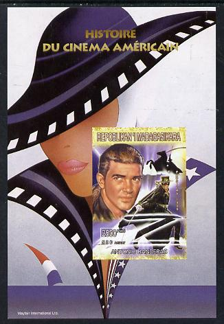 Madagascar 1999 History of American Cinema - Antonio Banderas imperf m/sheet unmounted mint. Note this item is privately produced and is offered purely on its thematic appeal