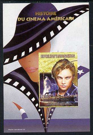 Madagascar 1999 History of American Cinema - Leonardo Di Caprio imperf m/sheet unmounted mint. Note this item is privately produced and is offered purely on its thematic appeal