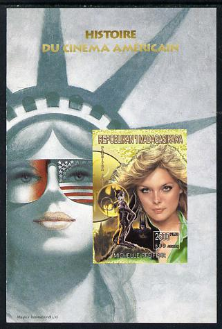 Madagascar 1999 History of American Cinema - Michelle Pfeiffer imperf m/sheet unmounted mint. Note this item is privately produced and is offered purely on its thematic appeal