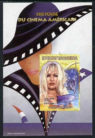 Madagascar 1999 History of American Cinema - Pamela Anderson imperf m/sheet unmounted mint. Note this item is privately produced and is offered purely on its thematic appeal