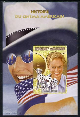Madagascar 1999 History of American Cinema - Glen Close imperf m/sheet unmounted mint. Note this item is privately produced and is offered purely on its thematic appeal